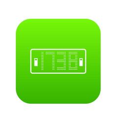 football scoreboard modern icon simple black vector image