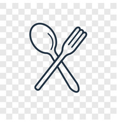fork concept linear icon isolated on transparent vector image