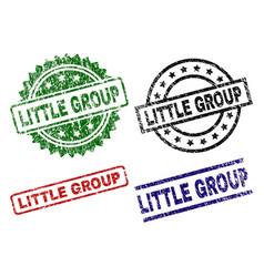 Grunge textured little group stamp seals vector