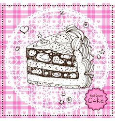 Hand drawn Cake vector image
