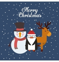 happy merry christmas character vector image