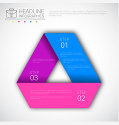 Headline infographic design business data graphic vector