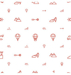 High icons pattern seamless white background vector