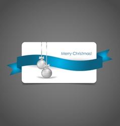 Holiday gift coupons with Christmas balls vector image