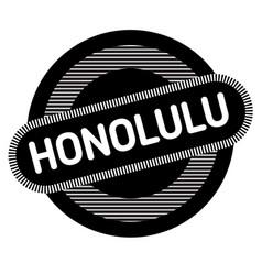 Honolulu typographic stamp vector