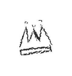 isolated hand drawn crown with crayola vector image