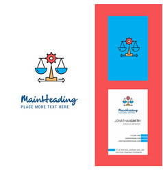 Justice creative logo and business card vertical vector