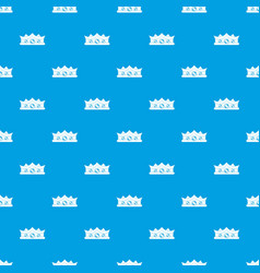 king crown pattern seamless blue vector image