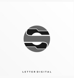 letter s circle template vector image
