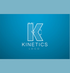 logo template letter k in the style of a vector image