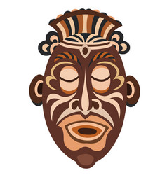 mask papuan vector image