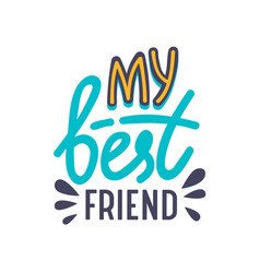 My best friends banner with typography bff vector