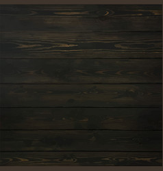 Old timber wood wall floor stained black vector