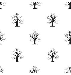 Old tree icon in black style for web vector