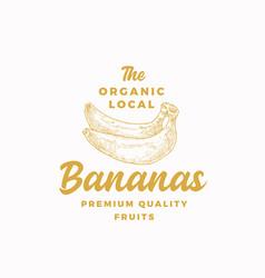 organic local bananas abstract sign symbol vector image