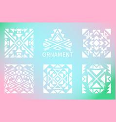 ornamental squares set vector image