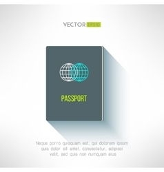 Passport in modern flat design citizen vector