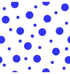 Polka dot blue seamless pattern vector image