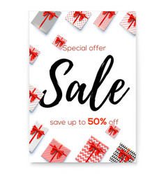 poster for events of sale price reduction fifty vector image