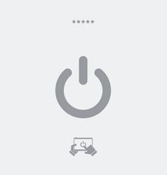 Power button flat icon vector