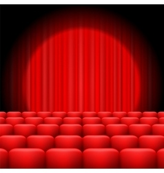 Red Curtains with Spotlight vector image