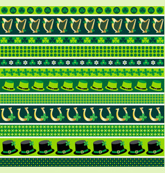 saint patricks day border patterns vector image