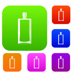Scent bottle set color collection vector