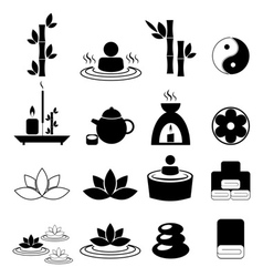 Set of spa and massage icons vector