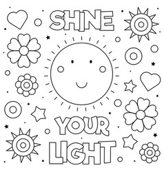 shine your light coloring page vector image