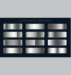 Silver or platinum gradients set vector