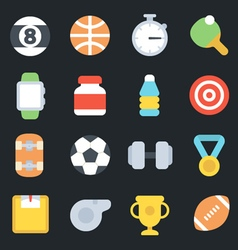 Sport Flat Icons vector image
