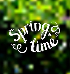 Spring background Photo overlay Spring time on vector
