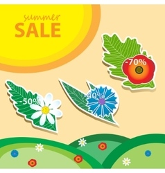 Summer sale pricetags vector