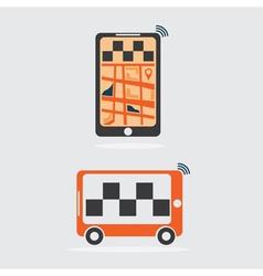 taxi online flat design vector image