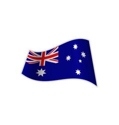 the flag of australia vector image