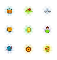 Transfer icons set pop-art style vector image