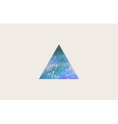 triangle logo design grunge triangle beautiful vector image