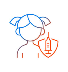 vaccination kids gradient linear icon vector image