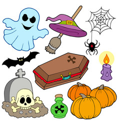 various halloween images 3 vector image