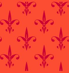 vintage pattern fleur de lis vector image