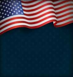 Wavy USA National Flag on Blue vector