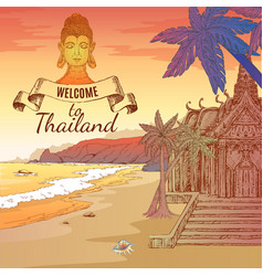 welcome to thailand background vector image