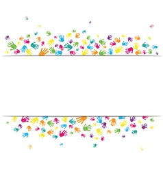 Abstract hands background vector image