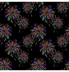 Abstract of fireworks vector image