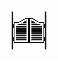 Doors in western saloon icon simple style vector image vector image