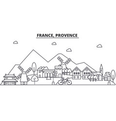 france provence architecture line skyline vector image vector image