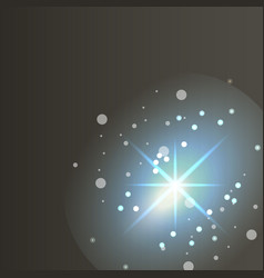 glowing lights effects on dark background glow vector image vector image