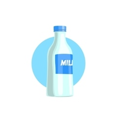 Plastic Bottle With Milk Simple vector image vector image