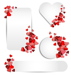 Set of heart frame for Valentine day vector image vector image