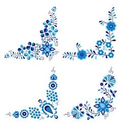 Traditional folk patterns vector image